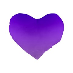Violet To Wisteria Gradient 16  Premium Heart Shape Cushion  by BestCustomGiftsForYou