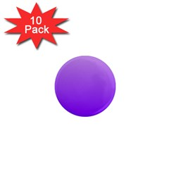 Wisteria To Violet Gradient 1  Mini Button Magnet (10 Pack) by BestCustomGiftsForYou