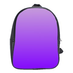 Wisteria To Violet Gradient School Bag (large) by BestCustomGiftsForYou