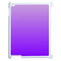Wisteria To Violet Gradient Apple Ipad 2 Case (white) by BestCustomGiftsForYou