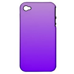 Wisteria To Violet Gradient Apple Iphone 4/4s Hardshell Case (pc+silicone) by BestCustomGiftsForYou