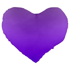 Wisteria To Violet Gradient 19  Premium Heart Shape Cushion by BestCustomGiftsForYou