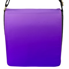 Wisteria To Violet Gradient Flap Closure Messenger Bag (small) by BestCustomGiftsForYou