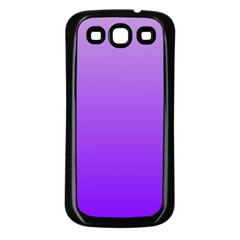 Wisteria To Violet Gradient Samsung Galaxy S3 Back Case (black) by BestCustomGiftsForYou