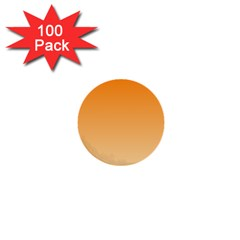 Orange To Peach Gradient 1  Mini Button (100 Pack) by BestCustomGiftsForYou