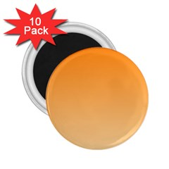 Orange To Peach Gradient 2 25  Button Magnet (10 Pack) by BestCustomGiftsForYou