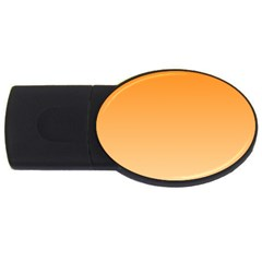 Orange To Peach Gradient 2gb Usb Flash Drive (oval) by BestCustomGiftsForYou