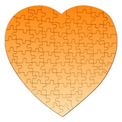 Orange To Peach Gradient Jigsaw Puzzle (heart) by BestCustomGiftsForYou