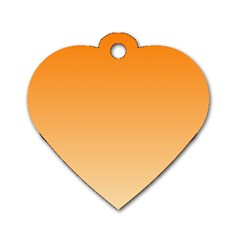 Orange To Peach Gradient Dog Tag Heart (one Sided)  by BestCustomGiftsForYou