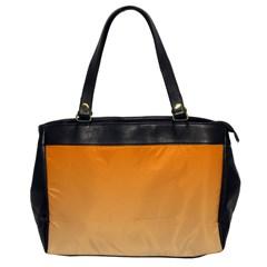 Orange To Peach Gradient Oversize Office Handbag (one Side) by BestCustomGiftsForYou