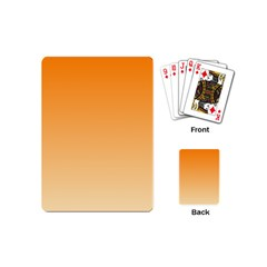 Orange To Peach Gradient Playing Cards (mini) by BestCustomGiftsForYou