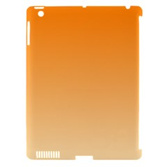 Orange To Peach Gradient Apple Ipad 3/4 Hardshell Case (compatible With Smart Cover) by BestCustomGiftsForYou