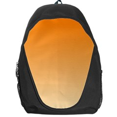 Orange To Peach Gradient Backpack Bag by BestCustomGiftsForYou