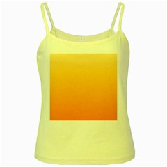 Peach To Orange Gradient Yellow Spaghetti Tank by BestCustomGiftsForYou