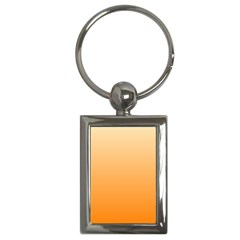Peach To Orange Gradient Key Chain (rectangle) by BestCustomGiftsForYou