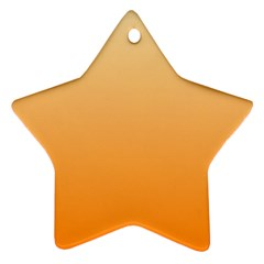 Peach To Orange Gradient Star Ornament (two Sides) by BestCustomGiftsForYou