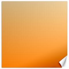 Peach To Orange Gradient Canvas 20  x 20  (Unframed)