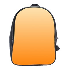 Peach To Orange Gradient School Bag (large) by BestCustomGiftsForYou