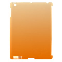 Peach To Orange Gradient Apple Ipad 3/4 Hardshell Case (compatible With Smart Cover) by BestCustomGiftsForYou