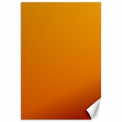 Amber To Mahogany Gradient Canvas 12  X 18  (unframed) by BestCustomGiftsForYou