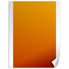 Amber To Mahogany Gradient Canvas 18  X 24  (unframed) by BestCustomGiftsForYou
