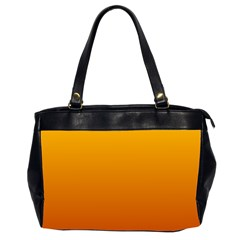 Amber To Mahogany Gradient Oversize Office Handbag (two Sides) by BestCustomGiftsForYou