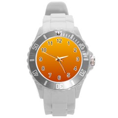 Amber To Mahogany Gradient Plastic Sport Watch (large) by BestCustomGiftsForYou
