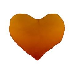 Amber To Mahogany Gradient 16  Premium Heart Shape Cushion  by BestCustomGiftsForYou