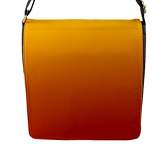 Amber To Mahogany Gradient Flap Closure Messenger Bag (large) by BestCustomGiftsForYou