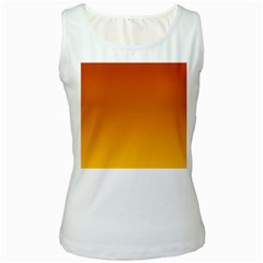 Mahogany To Amber Gradient Womens  Tank Top (white) by BestCustomGiftsForYou