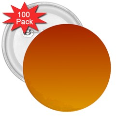 Mahogany To Amber Gradient 3  Button (100 Pack) by BestCustomGiftsForYou