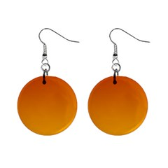 Mahogany To Amber Gradient Mini Button Earrings by BestCustomGiftsForYou