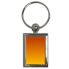 Mahogany To Amber Gradient Key Chain (rectangle) by BestCustomGiftsForYou