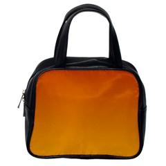 Mahogany To Amber Gradient Classic Handbag (one Side)
