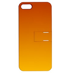 Mahogany To Amber Gradient Apple Iphone 5 Hardshell Case With Stand