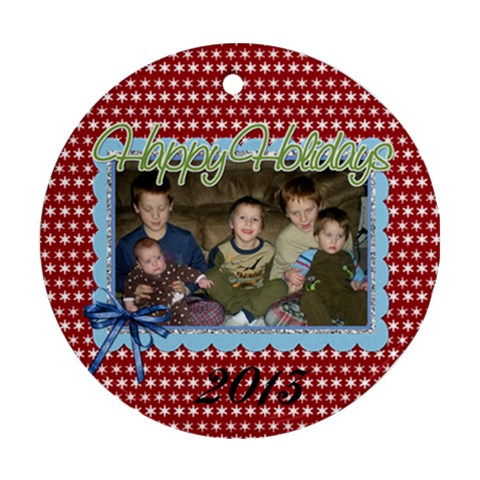 2013 Ornament 1 By Martha Meier   Ornament (round)   W4tvrabps58f   Www Artscow Com Front