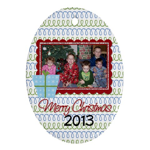 2013 Oval Ornament 2 By Martha Meier   Ornament (oval)   Mhjpmm2jtl0m   Www Artscow Com Front
