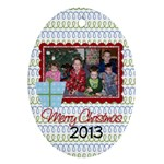 2013 Oval Ornament 2 - Ornament (Oval)