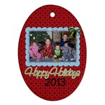 2013 Oval Ornament 3 - Ornament (Oval)