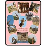 Giraffe Blanket - Fleece Blanket (Medium)