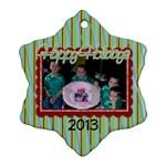 2013 Snowflake Ornament 1 - Ornament (Snowflake)