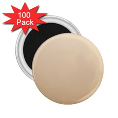 Champagne To Tan Gradient 2 25  Button Magnet (100 Pack) by BestCustomGiftsForYou