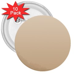 Champagne To Tan Gradient 3  Button (10 Pack) by BestCustomGiftsForYou