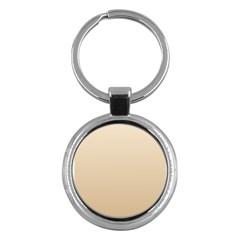 Champagne To Tan Gradient Key Chain (round) by BestCustomGiftsForYou