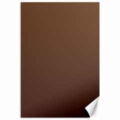 Chamoisee To Seal Brown Gradient Canvas 12  X 18  (unframed) by BestCustomGiftsForYou