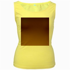 Seal Brown To Chamoisee Gradient Womens  Tank Top (yellow) by BestCustomGiftsForYou
