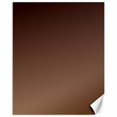 Seal Brown To Chamoisee Gradient Canvas 11  X 14  (unframed) by BestCustomGiftsForYou