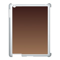 Seal Brown To Chamoisee Gradient Apple Ipad 3/4 Case (white) by BestCustomGiftsForYou