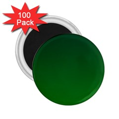 Dark Green To Green Gradient 2 25  Button Magnet (100 Pack) by BestCustomGiftsForYou