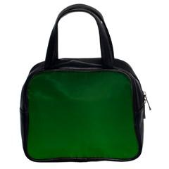 Dark Green To Green Gradient Classic Handbag (two Sides) by BestCustomGiftsForYou